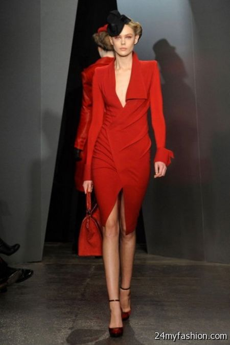 Donna Karan Red Dress 2018 2019