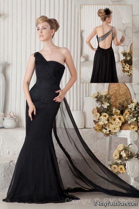 Elegant black evening gowns 2018-2019