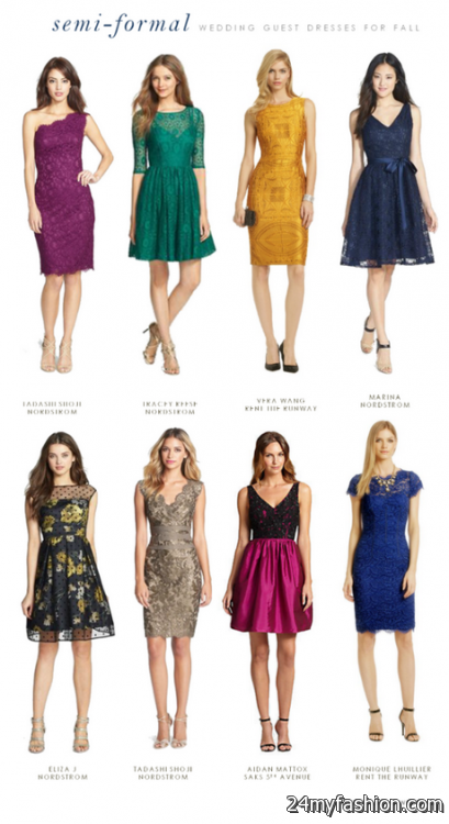 Fall dresses for a wedding 2018-2019