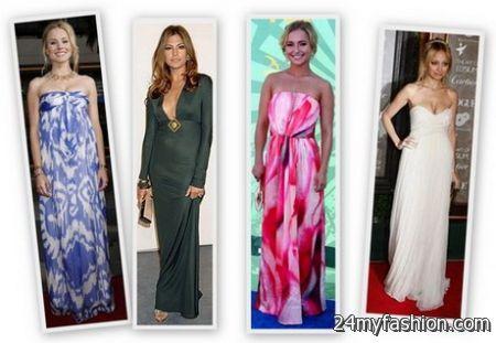 Fashion maxi dresses 2018-2019