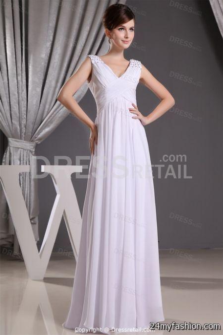 Floor length white dress 2018-2019