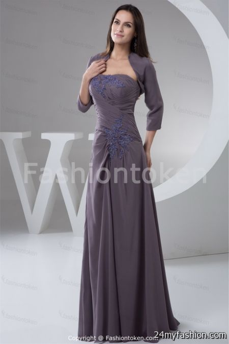 Grey evening dresses 2018-2019