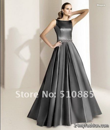 Grey evening gowns 2018-2019