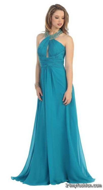 Halter top prom dresses 2018-2019