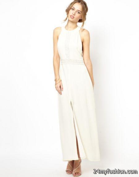Ivory maxi dresses 2018-2019