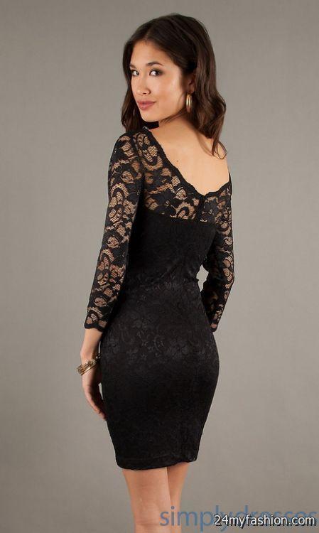 Lace black dresses 2018-2019
