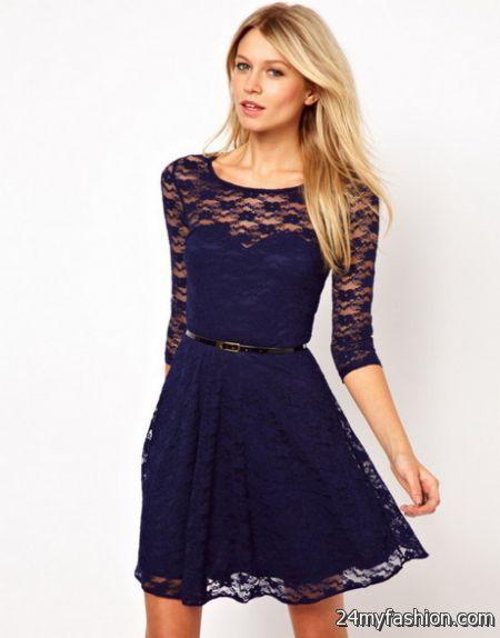 Ladies lace dresses 2018-2019