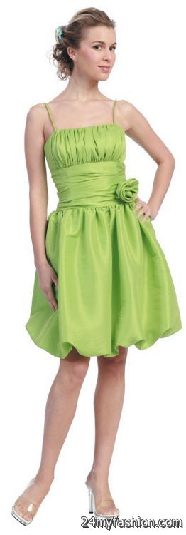 Lime green cocktail dress 2018-2019