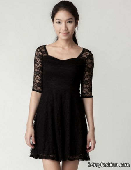 Little black dresses with sleeves 2018-2019