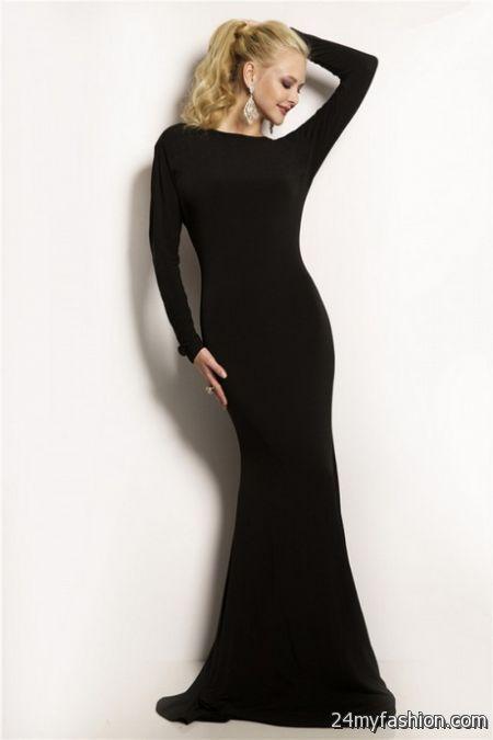 Long Sleeve Tight Black Dress 2018 2019 B2b Fashion