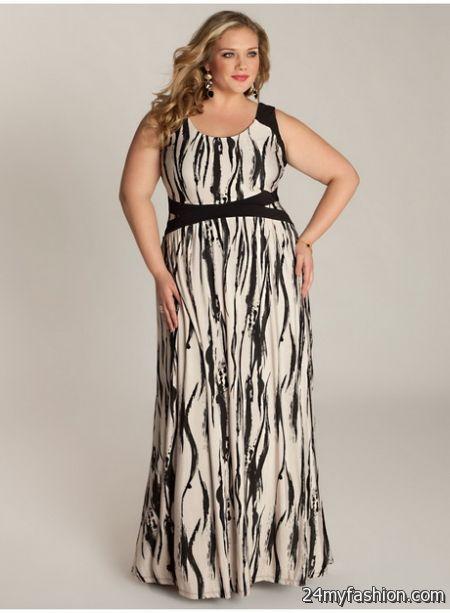 Maxi dresses for plus size women 2018-2019