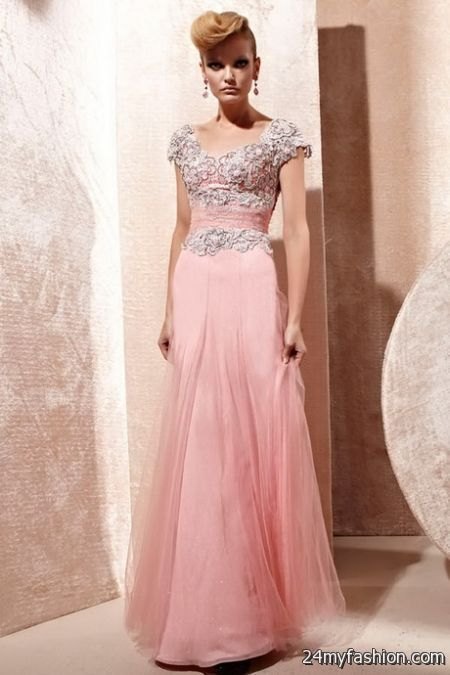 Peach evening dresses 2018-2019