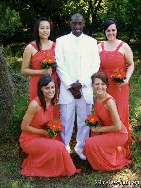 Persimmon bridesmaid dresses 2018-2019
