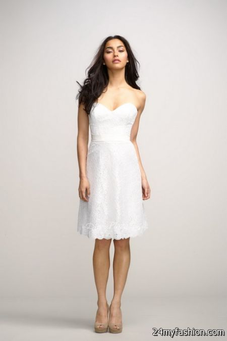 Plain white dresses 2018-2019