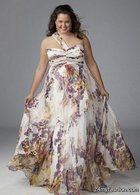 Plus size chiffon dresses 2018-2019