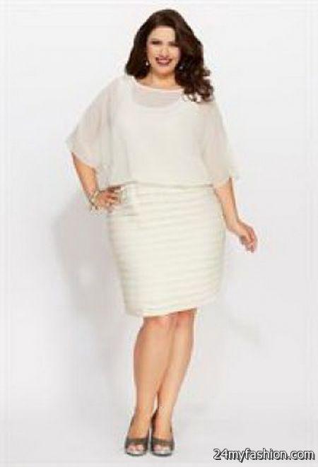Plus size white evening dresses 2018-2019