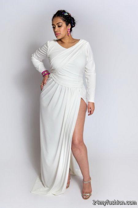 Plus Size White Evening Dresses 2018 2019 B2b Fashion