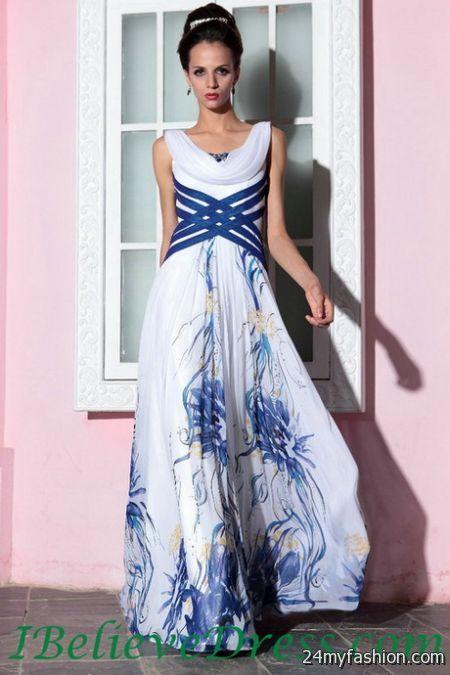 Print wedding dresses 2018-2019