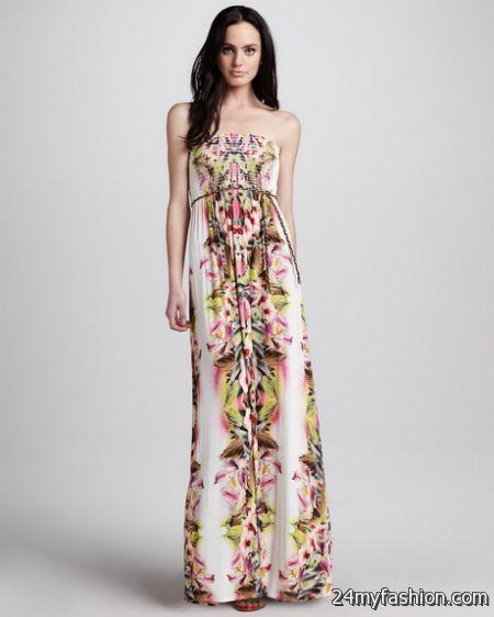 Printed maxi dresses 2018-2019