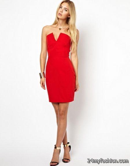 Red bandeau dress 2018-2019
