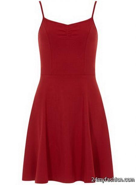 Red strappy dress 2018-2019