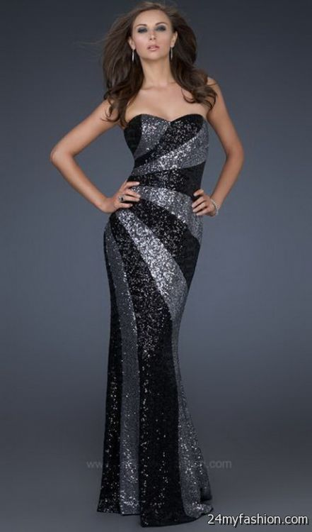 Sequined evening dresses 2018-2019