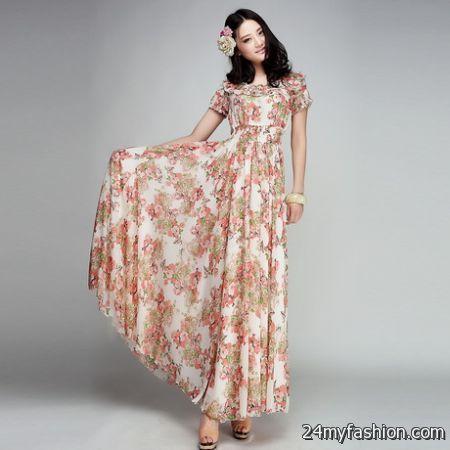 Short length maxi dresses 2018-2019