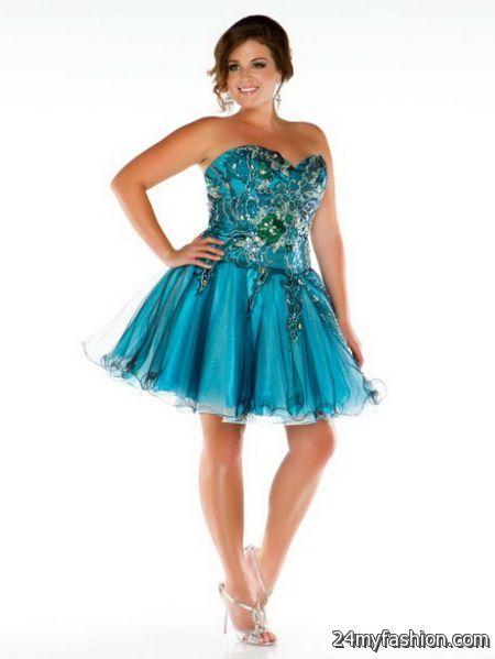 Short plus size prom dresses 2018-2019