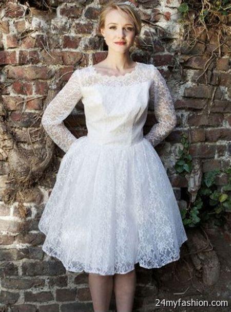 Short vintage wedding dress 2018-2019