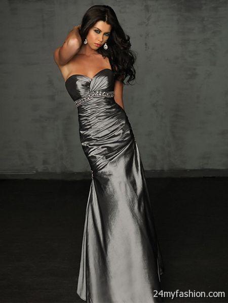 Silver formal dresses 2018-2019