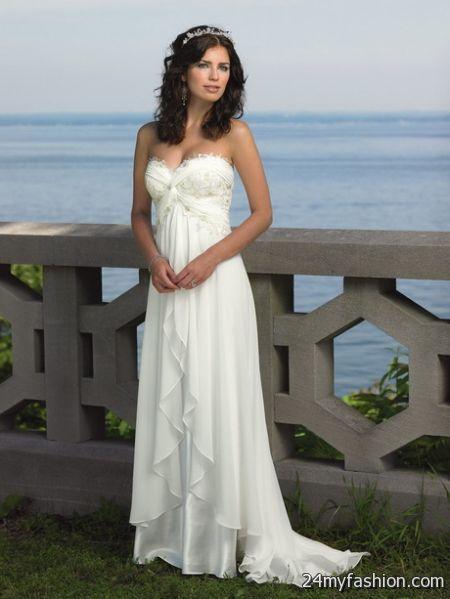 Strapless beach wedding dresses 2018-2019