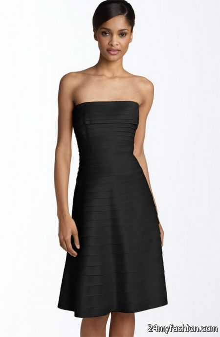 Strapless cocktail dress 2018-2019