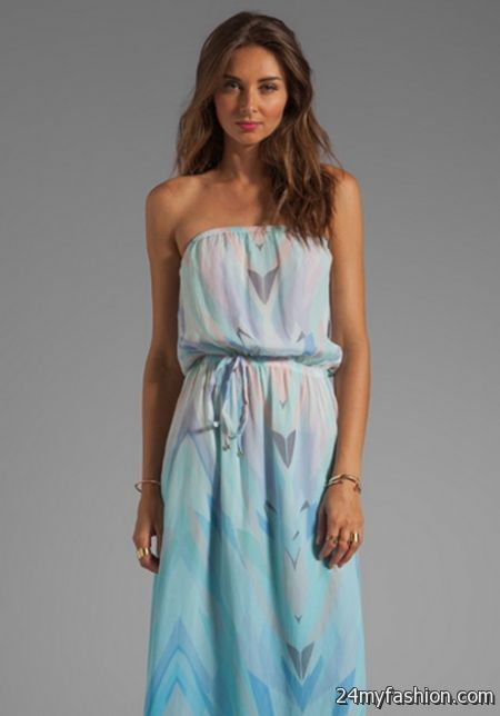 Strapless summer dress 2018-2019