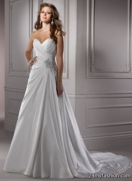 Sweetheart a line wedding dresses 2018-2019