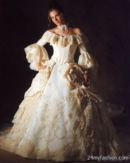 Victorian wedding gowns 2018-2019