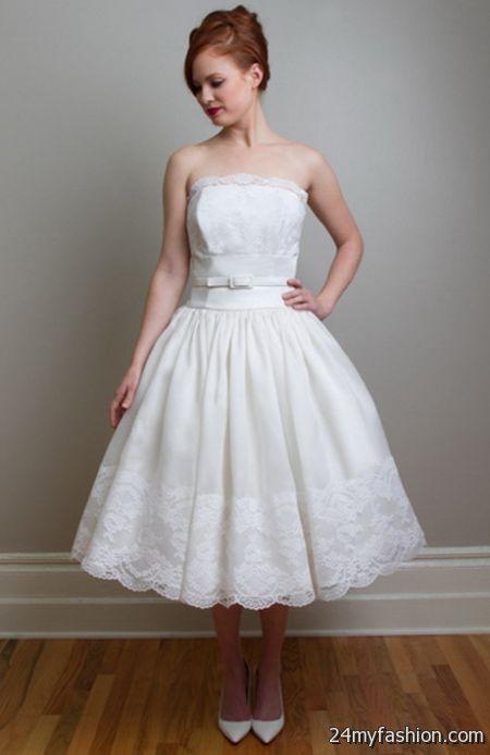 Vintage wedding dresses tea length 2018-2019   B2B Fashion