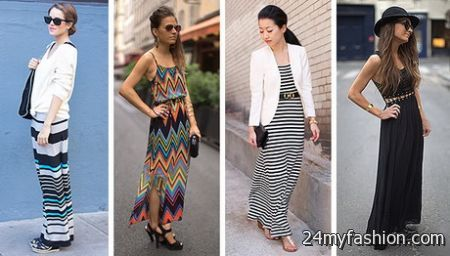 What to wear with maxi dress 2018-2019