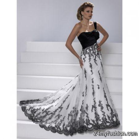 White and black wedding dresses 2018-2019   B2B Fashion