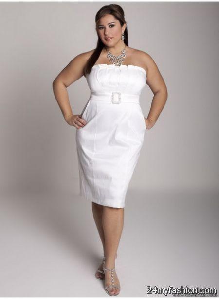 White plus size party dresses 2018-2019