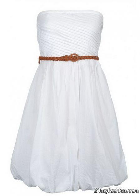 White sun dress 2018-2019