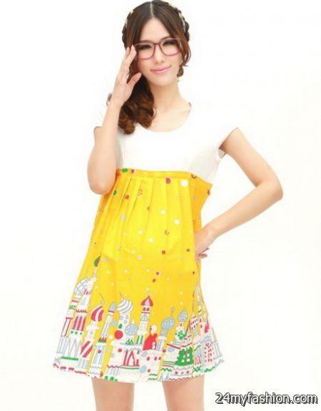 Yellow maternity dress 2018-2019