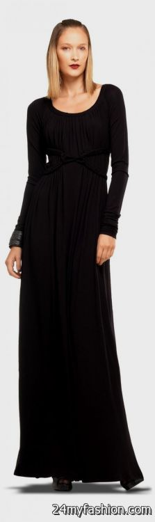 Black Long Sleeve Maternity Maxi Dress 2018 2019 B2b Fashion