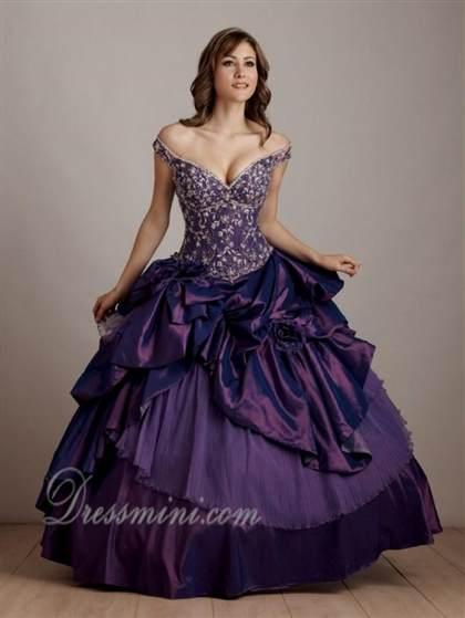 Dark Purple Ball Gowns