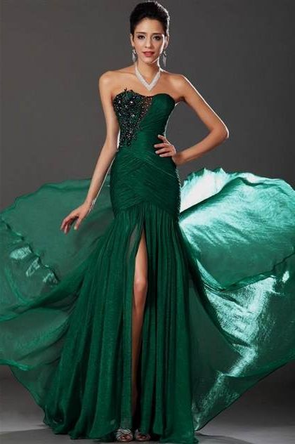 emerald green mermaid prom dresses 2018/2019 | B2B Fashion