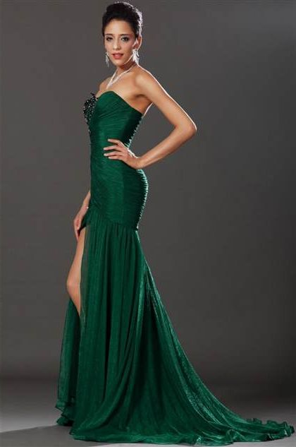 emerald green mermaid prom dresses 20182019 b2b fashion