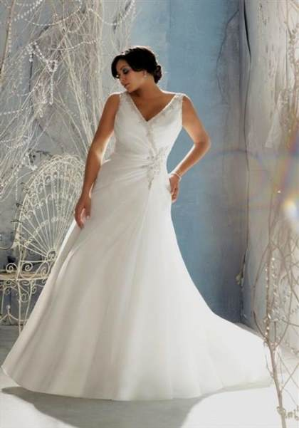 fit and flare wedding dress plus size 2018/2019