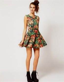 floral skater dress outfit 2018-2019  c5860b992