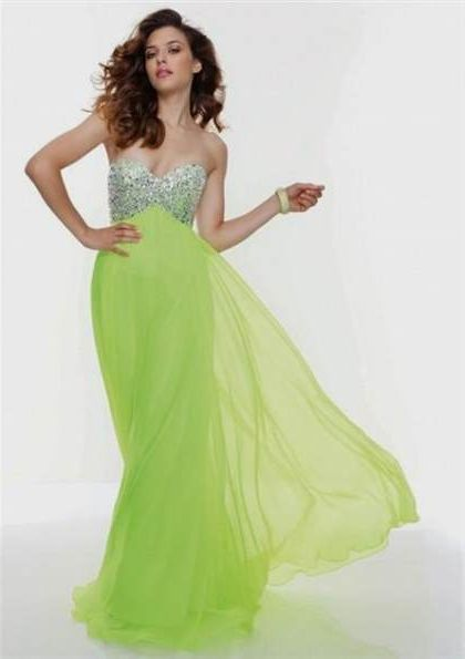 lime green prom dresses 2018-2019
