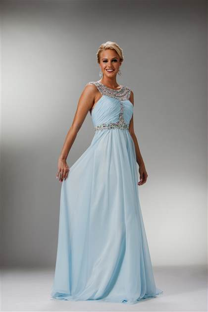 Long Light Blue Prom Dresses 2018 2019 B2b Fashion