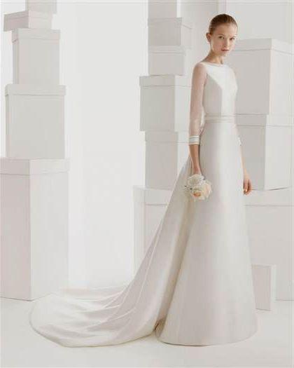Satin Wedding Dress 2019: Long Sleeve Satin Wedding Dresses 2018/2019